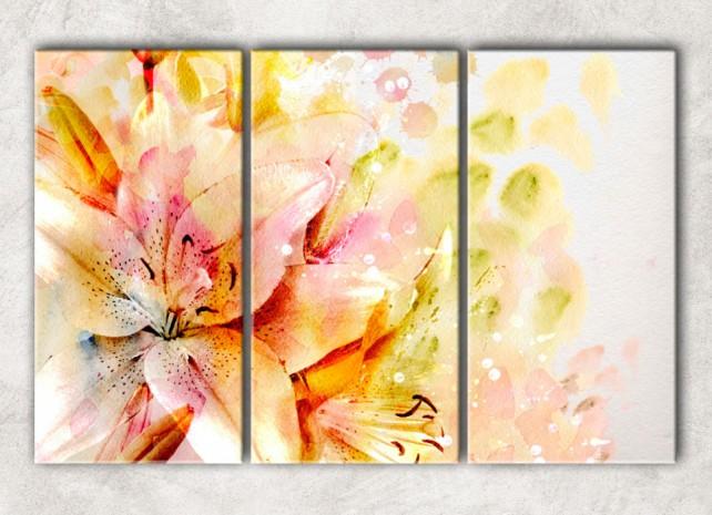 Акварельные лилии