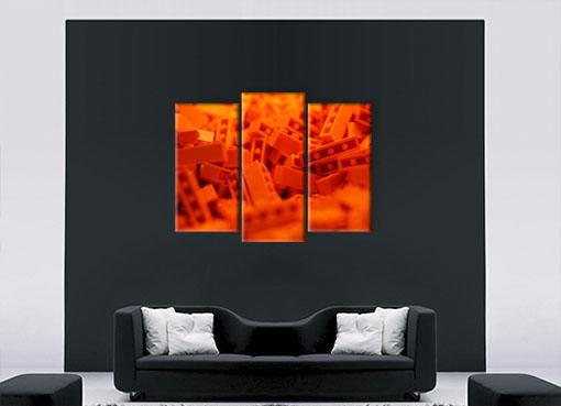 Оранжевые лего
