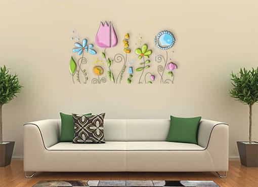 Стилизованные цветы3