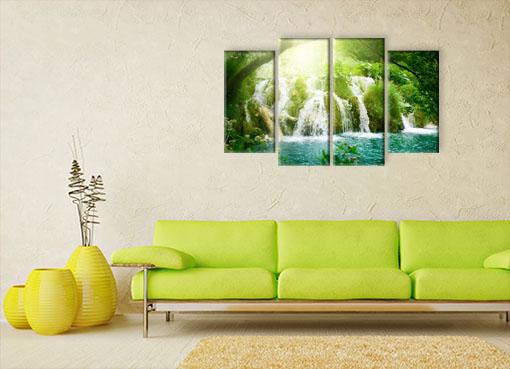 Водопад в зелени3