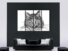 пушистый кот в интерьере