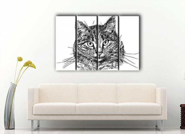 пушистый кот в интерьере 2