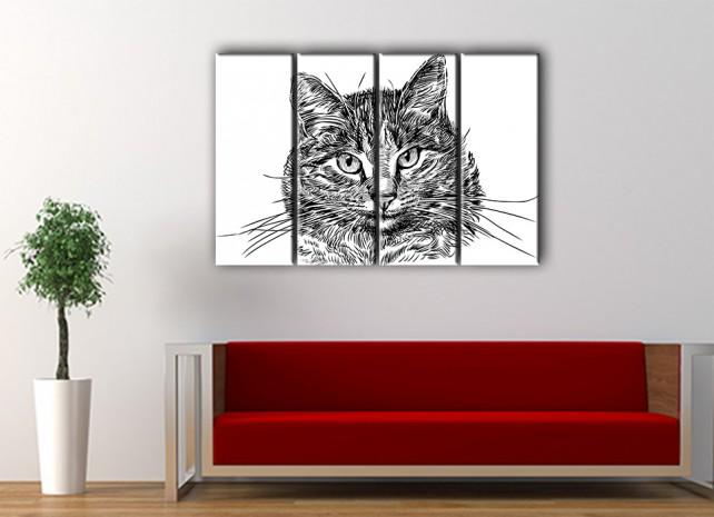 пушистый кот в интерьере 3