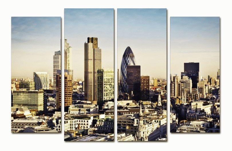 modulnaya kartina iz 4 chastey london bissnes centr