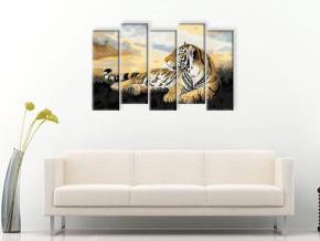 нарисованный тигр