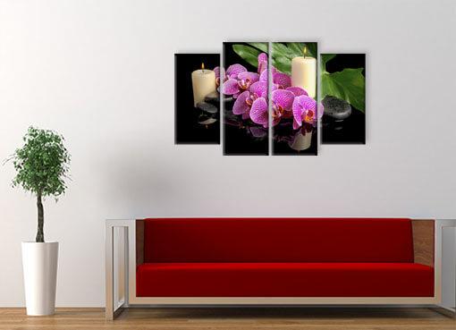 орхидея и свечи.
