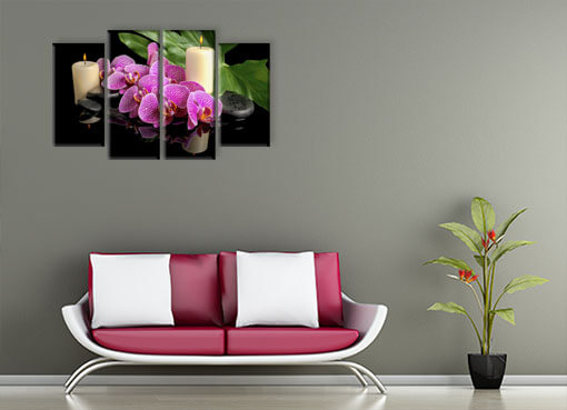 орхидея и свечи2