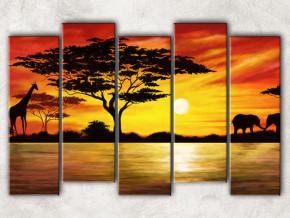 Африка на закате фон