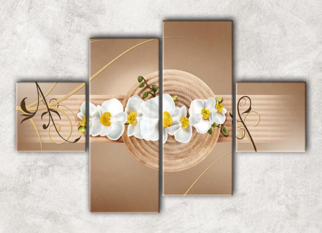 белые орхидеи с фоном