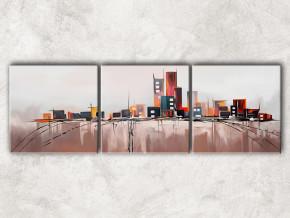 большой город с фоном