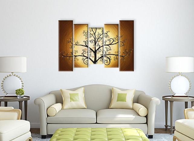 дерево в золотом