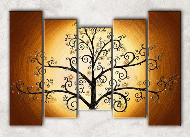дерево в золотом с фоном