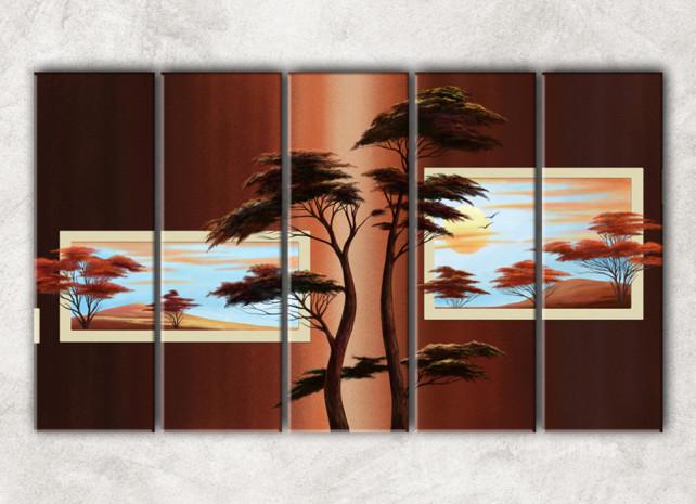 изящные деревья с фоном