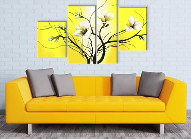 лилии на жёлтом 2