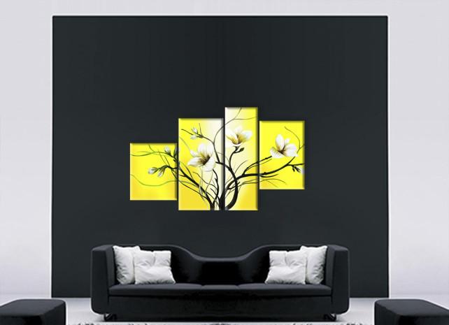 лилии на жёлтом 3