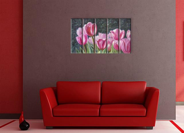 нарисованные тюльпаны