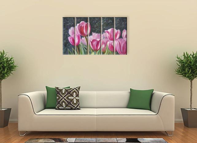 нарисованные тюльпаны2