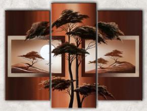 пустыня с деревом с фоном