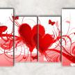 сердца и бабочки с фоном