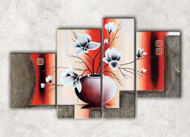 цветы в вазе с фоном