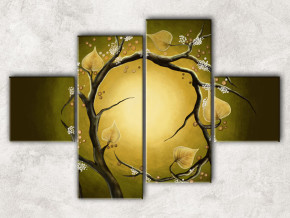 ветка с листьями с фоном