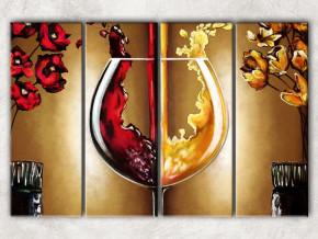 вино и золото с фоном