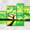 зелёный закат с фоном