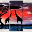 жираф и месяц с фоном