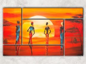 Яркие африканские костюмы с фоном