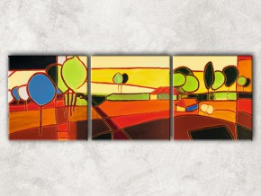 абстрактный пейзаж с фоном