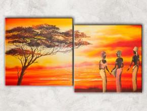 африканки у моря с фоном