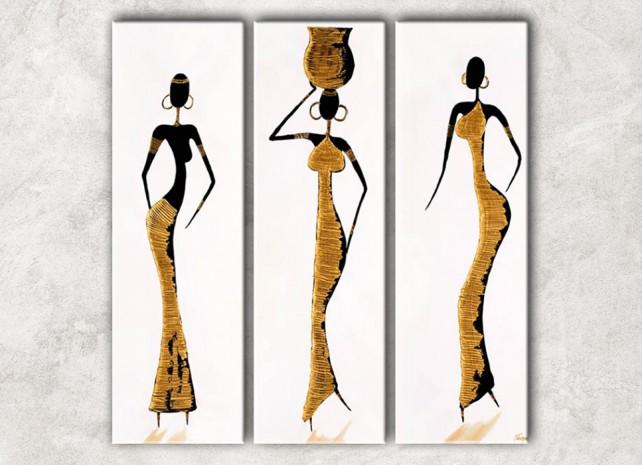 африканки в золотом с фоном