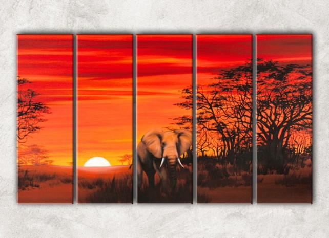 африканский слон с фоном