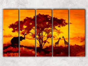 африканский закат с фоном