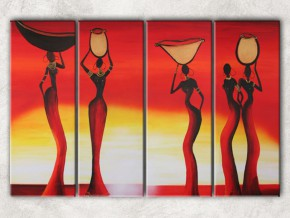 четыре африканки с фоном