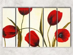 краски тюльпанов с фоном