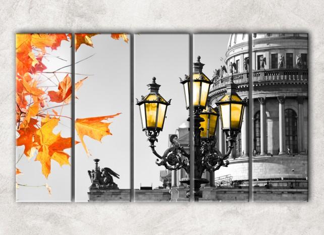 монохромная осень с фоном