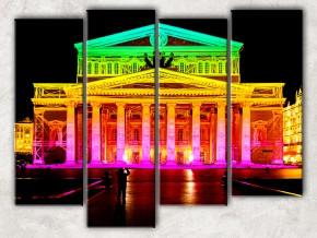 неоновый театр с фоном