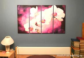 Модульная картина орхидеи - modulik.ru