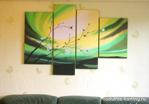 Модульная картина деревья - modulik.ru