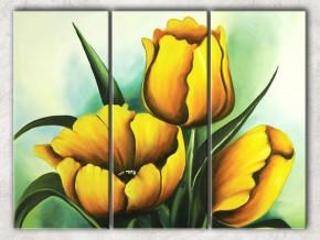 праздничные тюльпаны с фоном