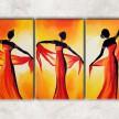 три танцовщицы с фоном