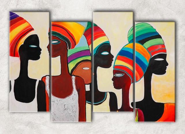 цветные африканцы с фоном