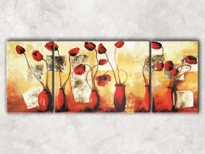 вазы с маками с фоном