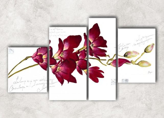 ветка орхидеи с фоном