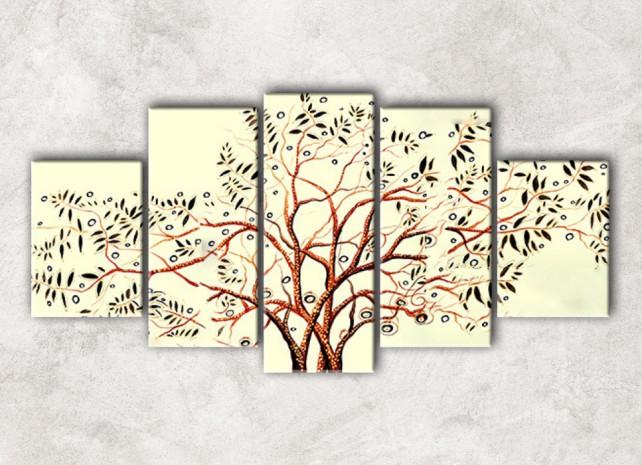 ветвистое дерево с фоном