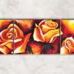 живописные розы с фоном