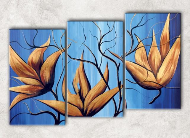 зимние цветы с фоном