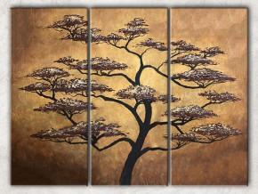 дерево на золотом с фоном