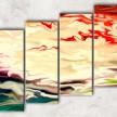 краски на воде с фоном